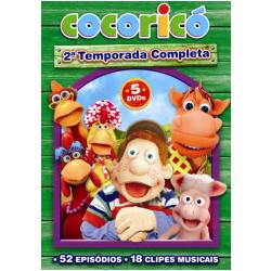 DVD - Cocoricó 2ª Temporada Completa - Fernando Gomes ( Diretor ) - 7899587908693