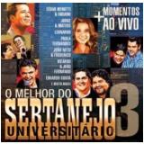 Melhor Do Sertanejo Universitario, Vol. 3 (musicpac) (CD) - Vários Artistas