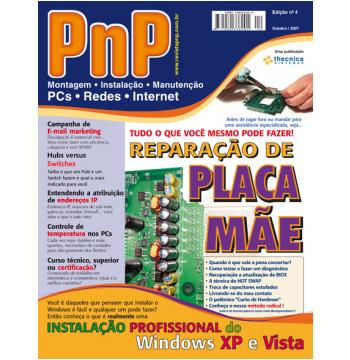 PnP Digital nº 4 - Reparação de Placa Mãe, Instalação profissional do Windows, atribuição de endereços IP, e-mail marketing (Ebook)