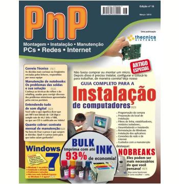 PnP Digital nº 16 - Instalação de computadores, Windows 7, Bulk Ink, entendendo de som no PC, contrato mensal de manutenção  (Ebook)
