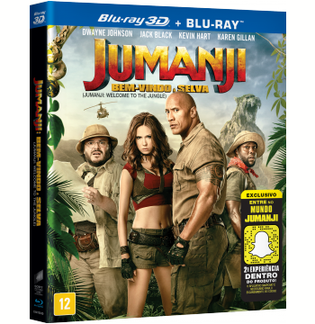 Jumanji - Bem-Vindo à Selva (Blu-Ray 3D) + (Blu-Ray)