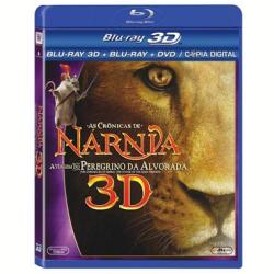 Blu - Ray - As Crônicas de Nárnia - a Viagem do Peregrino da Alvorada 3D - Georgie Henley, Skandar Keynes - 7898512977315