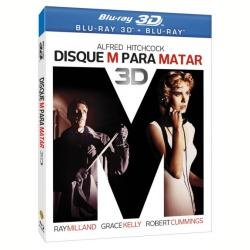 Blu - Ray - Disque M Para Matar - 3D - Robert Cummings, Grace Kelly, Ray Milland - 7892110144148