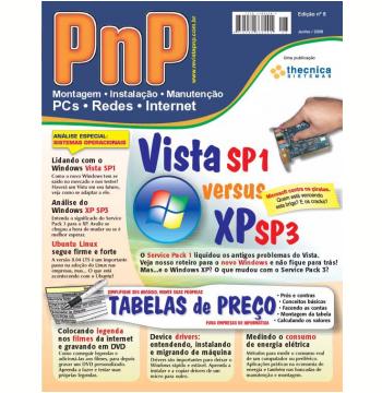 PnP Digital nº 8 - Vista SP1 versus XP SP3, Montagem de tabelas de preço (Ebook)