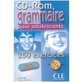 Grammaire Pour Adolescents - 250 Exercices - Niveau Debutant (cd-rom Pc/mac) - Cle International