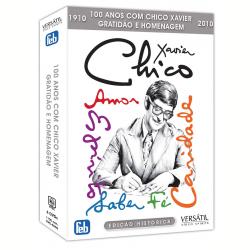 DVD - 100 Anos com Chico Xavier: Gratidão e Homenagem - Divaldo Pereira Franco, AndrÉ Trigueiro - 7895233150607