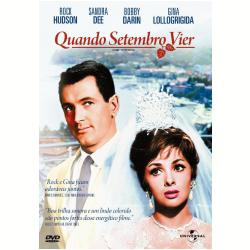 DVD - Quando Setembro Vier - Rock Hudson, Gina Lollobrigida, Sandra Dee - 7898366214536