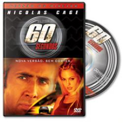 DVD - 60 Segundos - Versão do Diretor, Sem Cortes - Angelina Jolie, Robert Duvall, Nicolas Cage - 7899307905421