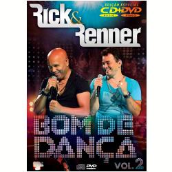 DVD - Rick E Renner - Bom De Dança Vol. 2 ( cd ) + - Rick e Renner - 7899340773247