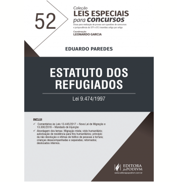 Estatuto dos Refugiados - Lei 9.474/1997 (Vol. 52)