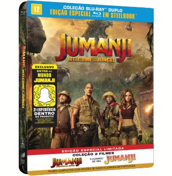 Coleção Jumanji + Jumanji - Bem-vindo à Selva - SteelBook (Blu-Ray)