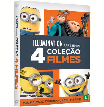 Coleção - Meu Malvado Favorito 1-3 + Minions (4 DVDs)