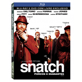 Snatch Porcos E Diamantes Livro + DVD + BD (Blu-Ray) - Benicio Del Toro, Brad Pitt, Vinnie Jones