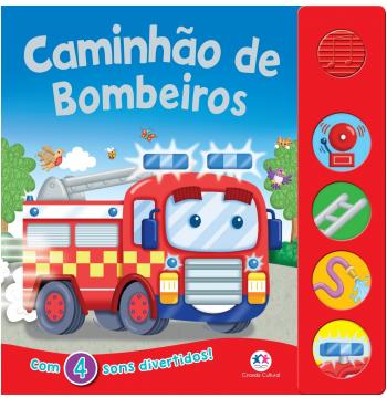 Caminhão de Bombeiros - Com 4 Sons Divertidos!