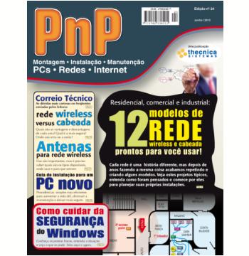 PnP Digital nº 24 - Residencial, comercial, industrial: 12 modelos de rede prontos para usar (Ebook)