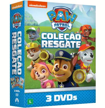 Coleção - Resgate Paw Patrol (3 DVDs)