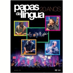 DVD - Papas da Língua - 20 Anos - ( CD ) + - Papas da Língua - 7899340774114