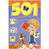 501 Desenhos Para Colorir - Roxo e Laranja - Brijbasi Art Press