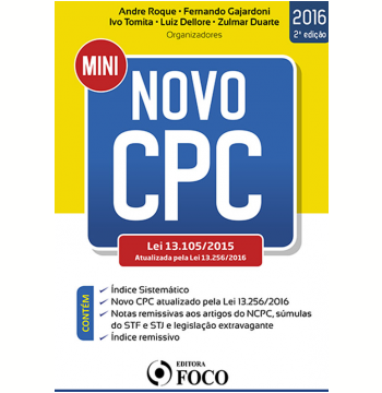 Mini Novo CPC - Lei 13.105/2015 Atualizada Pela Lei 13.256/2016