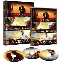 DVD - Box Gospel - A Prova de Fogo - Desafiando Gigantes - A Virada - Kirk Cameron ( Diretor ) - 7892770031369