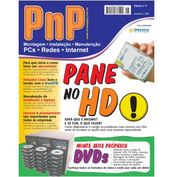 PnP Digital nº 5 - Pane no HD, Gravação de DVDs personalizados, aterramento, gravação de DVS, Manutenção de Notebooks  (Ebook)