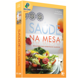 DVD - Box Saúde na Mesa - Vol. 1 ( 3 dvds ) - 7898922983579