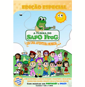 Larissa Fonseca - A Turma do Sapo Frog - (DVD) +  (CD)