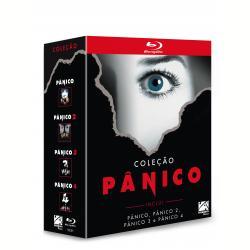 Blu - Ray - Coleção Pânico ( 1, 2, 3 e 4 ) - Drew Barrymore, Neve Campbell, David Arquette - 7899154513909