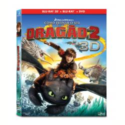 DVD - Como Treinar Seu Dragão 2 Blu - ray + Blu - ray 3d + - Gerard Butler - 7898512986102