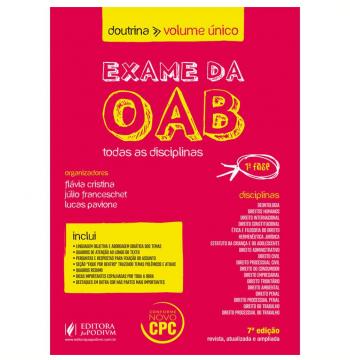 Exame Da Oab - Doutrina - Volume Único