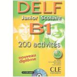 Delf Junior Scolaire B1 - 200 Activites Livre + Corriges + Transcriptions