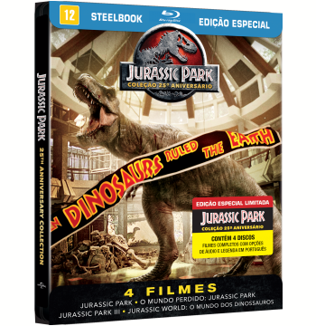 Coleção Jurassic Park - SteelBook (Blu-Ray)