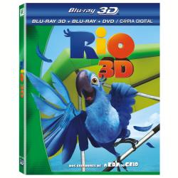 Blu - Ray - Rio - Mega Combo BD 3D + BD + DVD - Carlos Saldanha ( Diretor ) - 7898512977292
