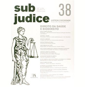 Sub Judice 38 - Direito Da Saude E Biodireito