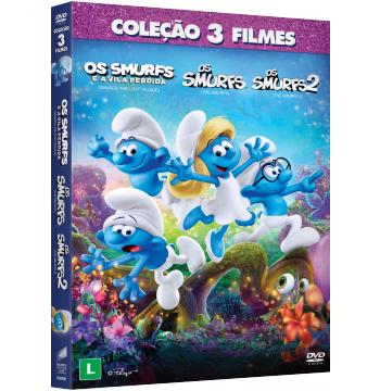 Os Smurfs + Os Smurfs 2 + Os Smurfs E A Vila Perdida (DVD)
