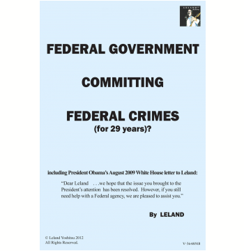 Federal Government Committing Federal Crimes (For 29 Years)? (Ebook)