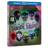 Esquadrão Suicida - Steelbook (Blu-Ray) - Will Smith, Viola Davis, Jared Leto
