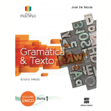 Projeto Múltiplo - Gramática - Ensino Médio - Jose de Nicola