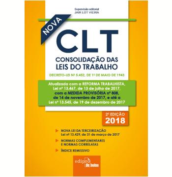 CLT 2018 - Consolidação das Leis do Trabalho (Mini)