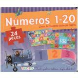 Livro E Quebra Cabe�a Duplo - Numeros 1-20 - Girassol Edi��es