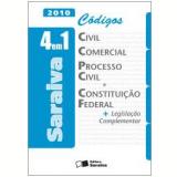 Códigos Civil , Comercial , Processo Civil e Constituição Federal: 4 em 1 - 2010 - Editora Saraiva