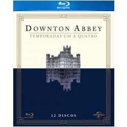 Blu - Ray - Downton Abbey 1 A 4ª Temporadas - Shirley Maclaine - 7898591440724