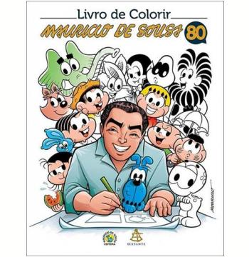 Livro De Colorir Mauricio De Souza 80 Anos