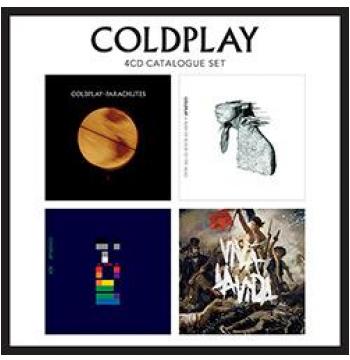 Box Coldplay - 4 Cds Catalogue Set (CD)